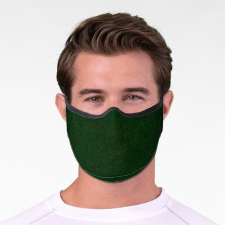 Dark Green Leather Premium Face Mask