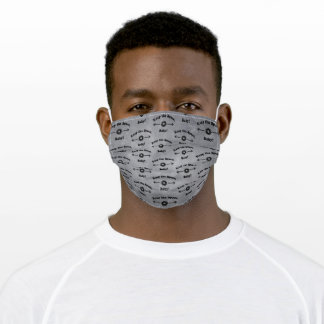DARK GREY Keep the Space, Baby! Cloth Face Mask