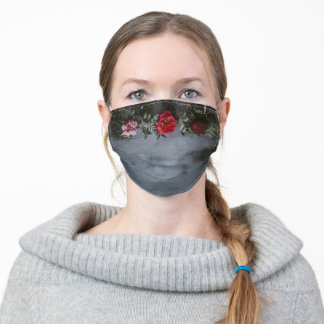 Dark Love Red Rose Gothic Design Personal Adult Cloth Face Mask