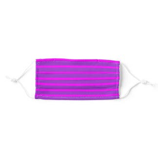 Dark Orchid and Fuchsia Stripes Pattern Adult Cloth Face Mask