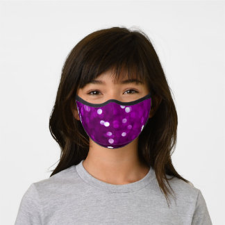 Dark Pink Magenta Fuchsia Sparkly Bokeh Abstract Premium Face Mask