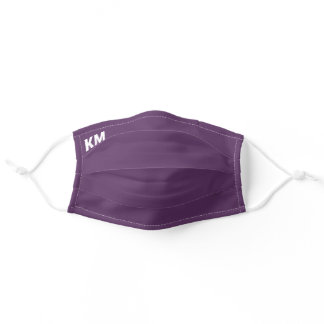 Dark purple spring summer fashion color trends adult cloth face mask