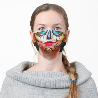 Day of the Dead Painted Face Adult Cloth Face Mask