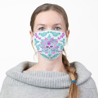 Day of the Dead Skull Adult Cloth Face Mask