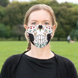 Day of the Dead Sugar Skull Adult Cloth Face Mask