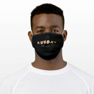 Day Of The Week Group Sunday Costume Adult Cloth Face Mask