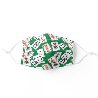 Deck of Cards Pattern Adult Cloth Face Mask