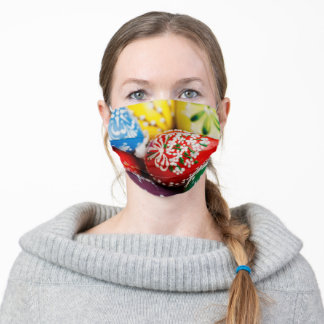 Decorated Easter Eggs Holiday Adult Cloth Face Mask