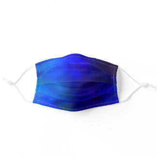 Deep Blue Ombre Gradient Adult Cloth Face Mask
