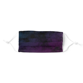 Deep Dark Blue to Purple Ombre Urban Grunge Adult Cloth Face Mask