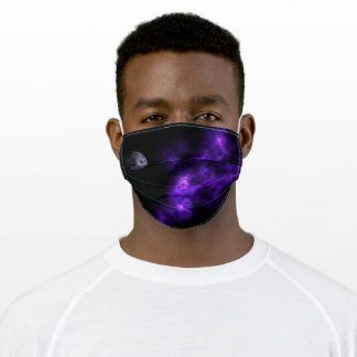 Deep Purple Nebula 4 with Planets Adult Cloth Face Mask