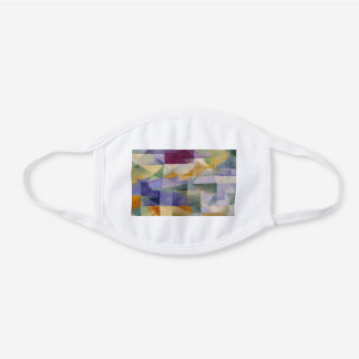 Delaunay Claasical Abstract Art Painting Windows White Cotton Face Mask