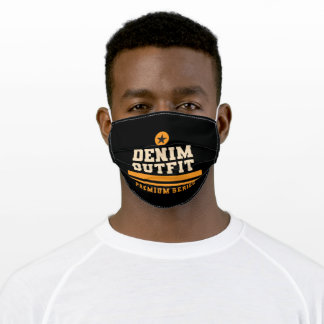 Denim outfit adult cloth face mask