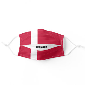 Denmark flag adult cloth face mask