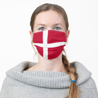 Denmark Flag Danish Patriotic Adult Cloth Face Mask