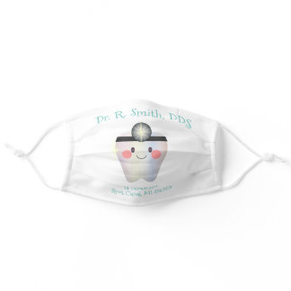 Dentist Business DDS Doctor Office Tooth Name Adult Cloth Face Mask