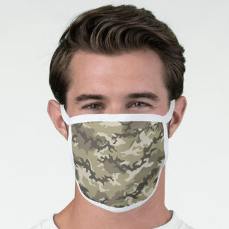 Desert Brown Camo Camouflage Face Mask