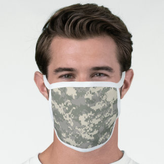Desert Brown Pixel Camo Camouflage Face Mask