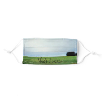 "Design theme ""Wide horizon"", the ocean on an Adult Cloth Face Mask"