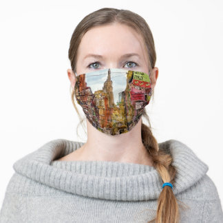 Destinations | New York City View of Little Italy Adult Cloth Face Mask