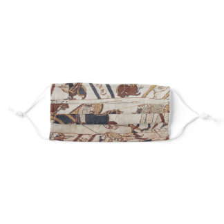 Detail of Bayeux Tapestry Medieval Vector Art Adult Cloth Face Mask