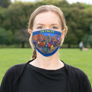 Detroit Adult Cloth Face Mask