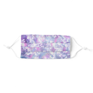 Dewy purple abstract adult cloth face mask