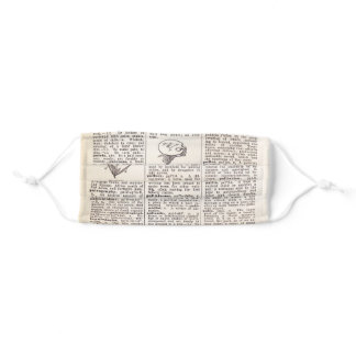 Dictionary page book lover/artist face mask cover