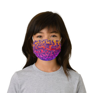 Digital Camo Rainbow Colorful Pattern Kids' Cloth Face Mask