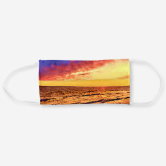 Digitally Painted Scenic Seascape Sunset Cloth Face Mask