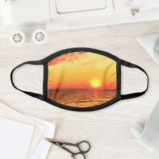 Digitally Painted Scenic Seascape Sunset Face Mask