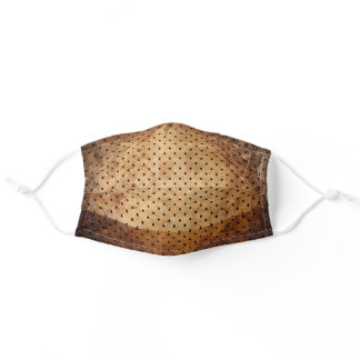 Distressed Antique Brown Mini Dot Adult Cloth Face Mask