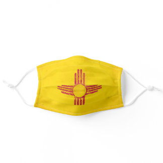 Distressed New Mexico Flag Adult Cloth Face Mask
