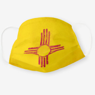 Distressed New Mexico Flag Cloth Face Mask