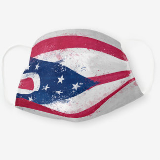 Distressed Ohio Flag Cloth Face Mask