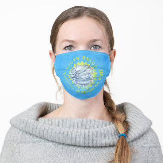 Distressed South Dakota State Flag Adult Cloth Face Mask