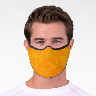 Distressed Yellow Premium Face Mask