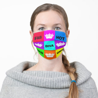 """""""Diva of Many Shades"""" Adult Cloth Face Mask"""