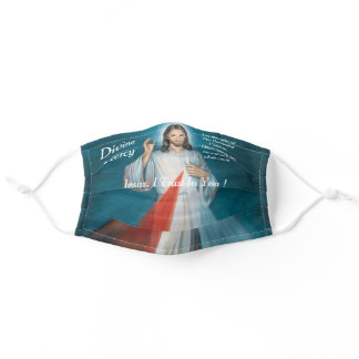 divine mercy adult cloth face mask