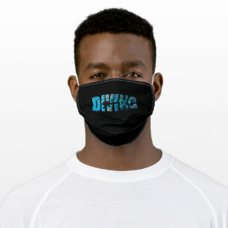 Diving Diver In The Water Adult Cloth Face Mask