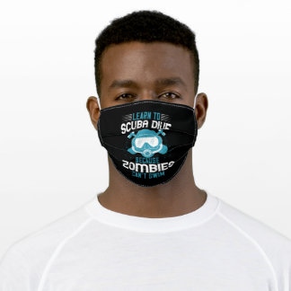 Diving - Zombies Can't Swim Learn Diving Adult Cloth Face Mask