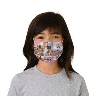 DIY 6 photo | family friends kids pink picture Kids' Cloth Face Mask