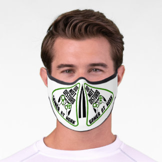 Do Not Disturb - GAMER at work unisex Covid Premium Face Mask