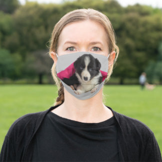 Dog Border Collie Puppy Adult Cloth Face Mask