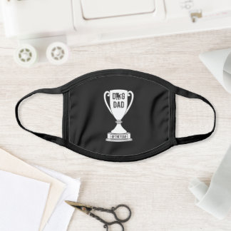 Dog Dad of the Year Trophy Design for Dog Lovers Face Mask