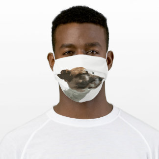Dog face mask, Jack Russell face mask. Adult Cloth Face Mask