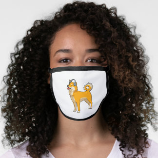 Dog Listening to Music Face Mask