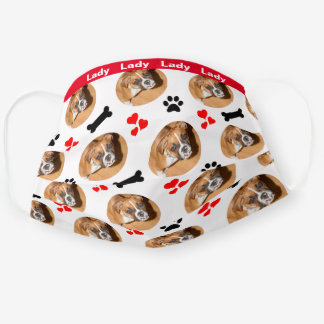 Dog Themed Face Masks, Add Dog Photo Cloth Face Mask