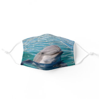 Dolphin Smiling Photography or Your Photo Adult Cloth Face Mask