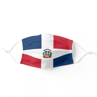 Dominican flag adult cloth face mask